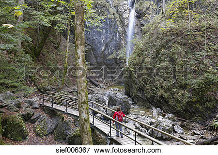 Picture of Germany, Upper Bavaria, Kochel am See, Lainbach fall.