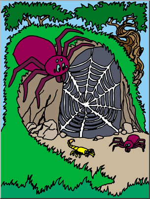 Clip Art: Spiders Lair (Color).