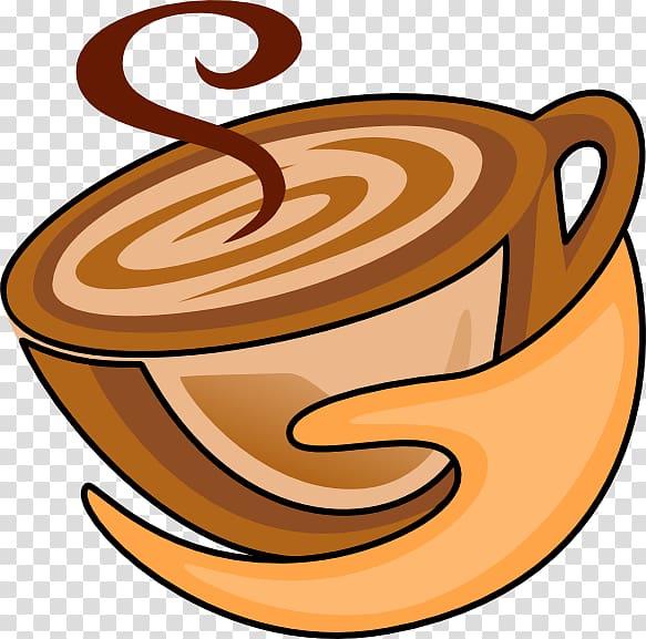 Cappuccino Coffee cup Cafe Café au lait, Coffee transparent.