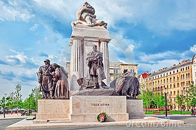 Lajos Kossuth Memorial In Budapest, Hungary Editorial Image.
