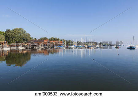 Stock Photo of Germany, Bavaria, Diessen, Sailing boats at.