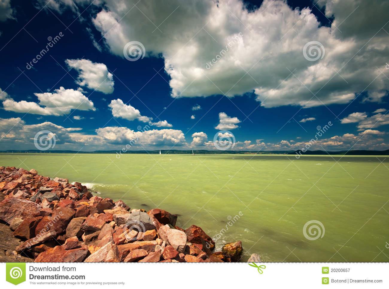 Lake Balaton Royalty Free Stock Photography.