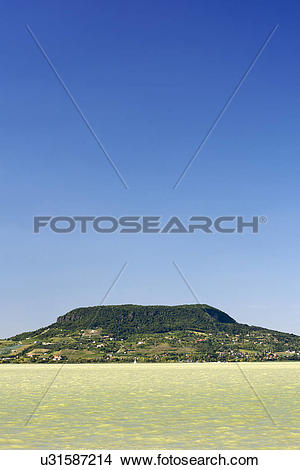 Stock Photo of Hungary, Somogy, Lake Balaton. A view from the.