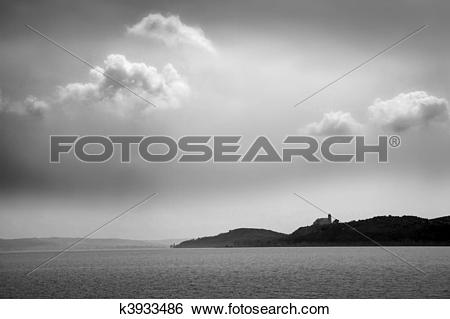 Stock Images of Lake Balaton in Tihany k3933486.