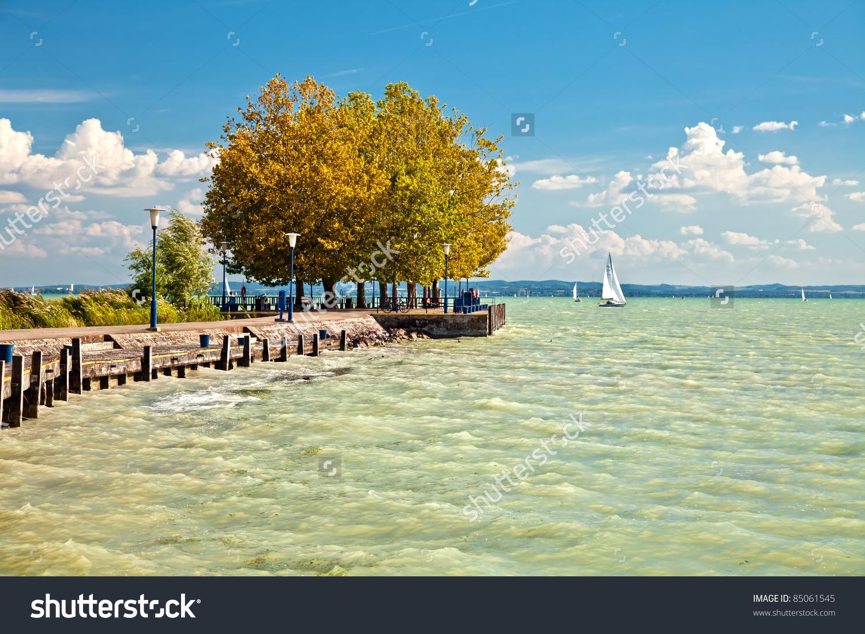 View Lake Balaton Hungary Stock Photo 85061545.