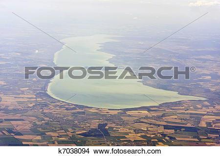 Stock Photo of Aerial image of Lake Balaton k7038094.