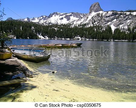 Stock Images of Lake George in the Mammoth Lakes Basin, Eastern.