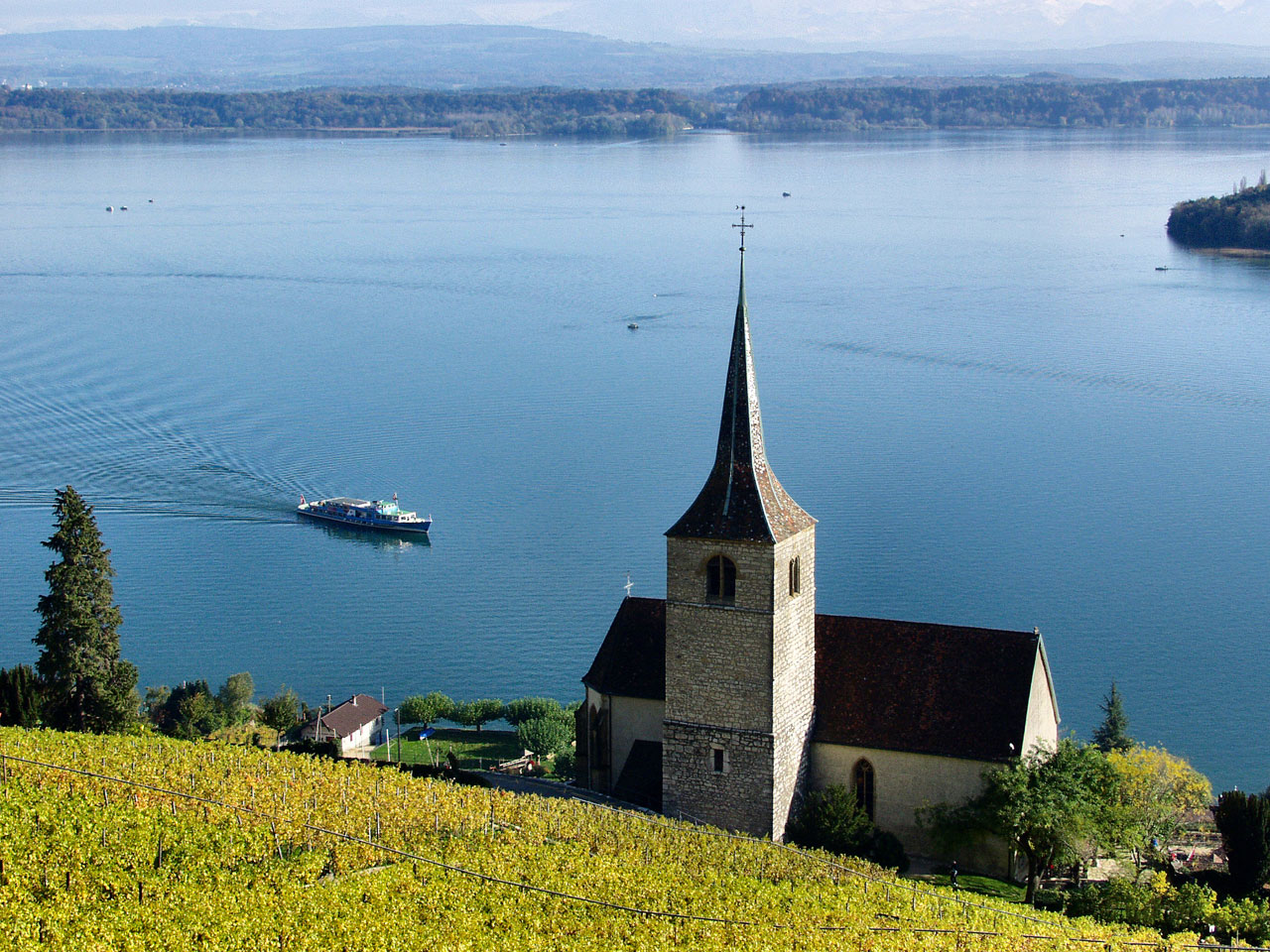 Lake of Biel, Switzerland.