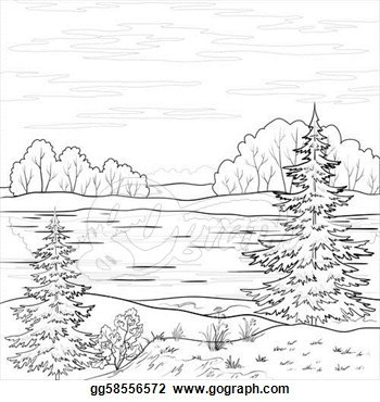 25+ Clip Art Black And White Nature Landscape Pictures and Ideas on.