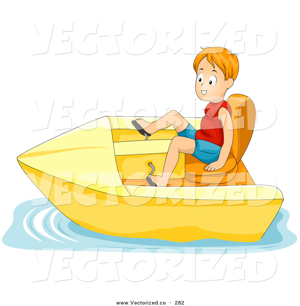 Paddle boats clipart.
