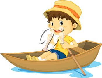Boat On A Lake Clipart.