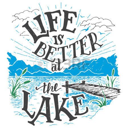 Lake Cabin Clipart.
