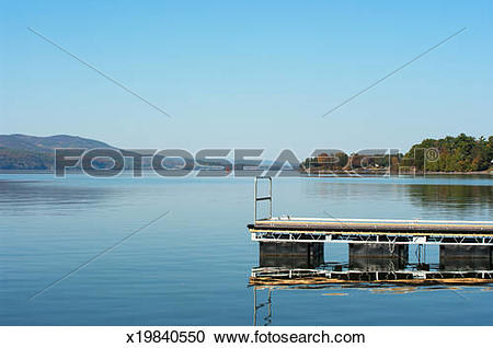 Stock Photography of Small boat dock on Lake Champlain. x19840550.