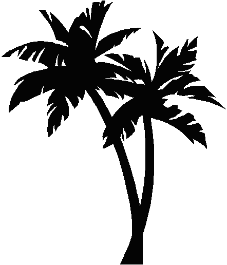 Palm trees clipart #12