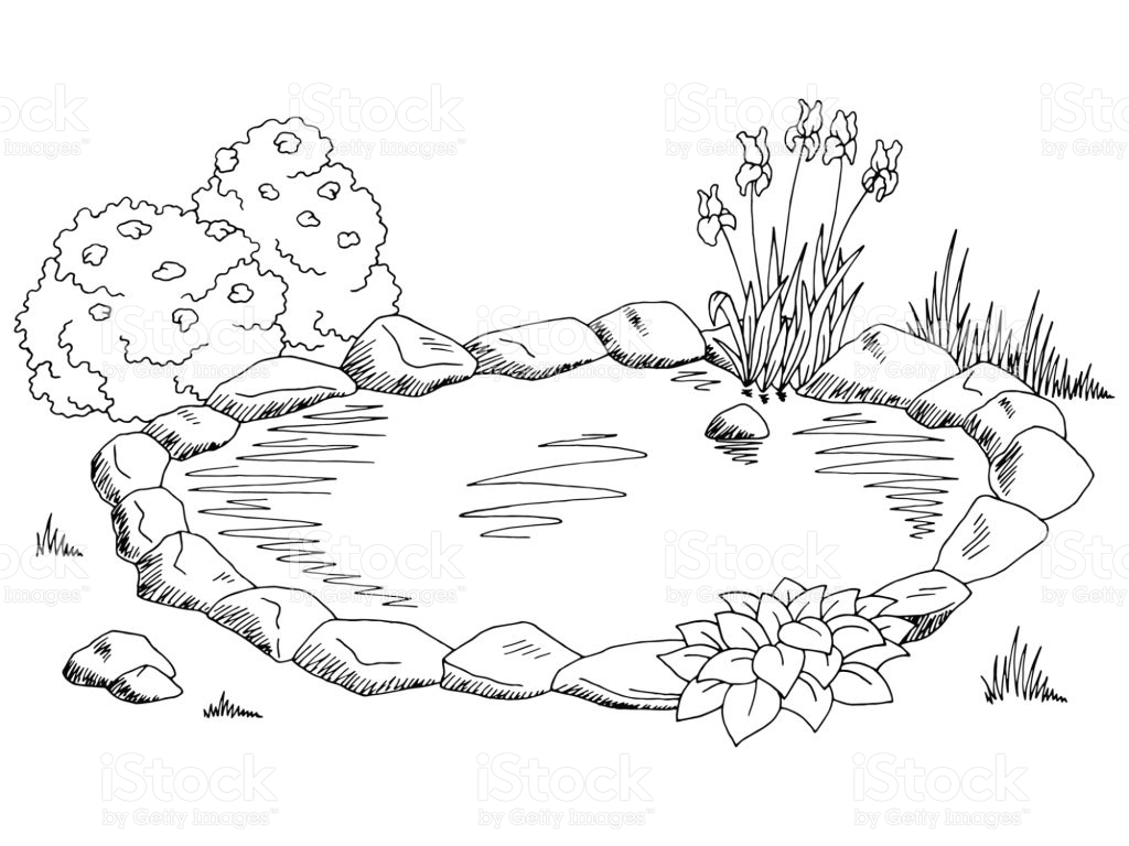 Lake clipart black and white » Clipart Station.