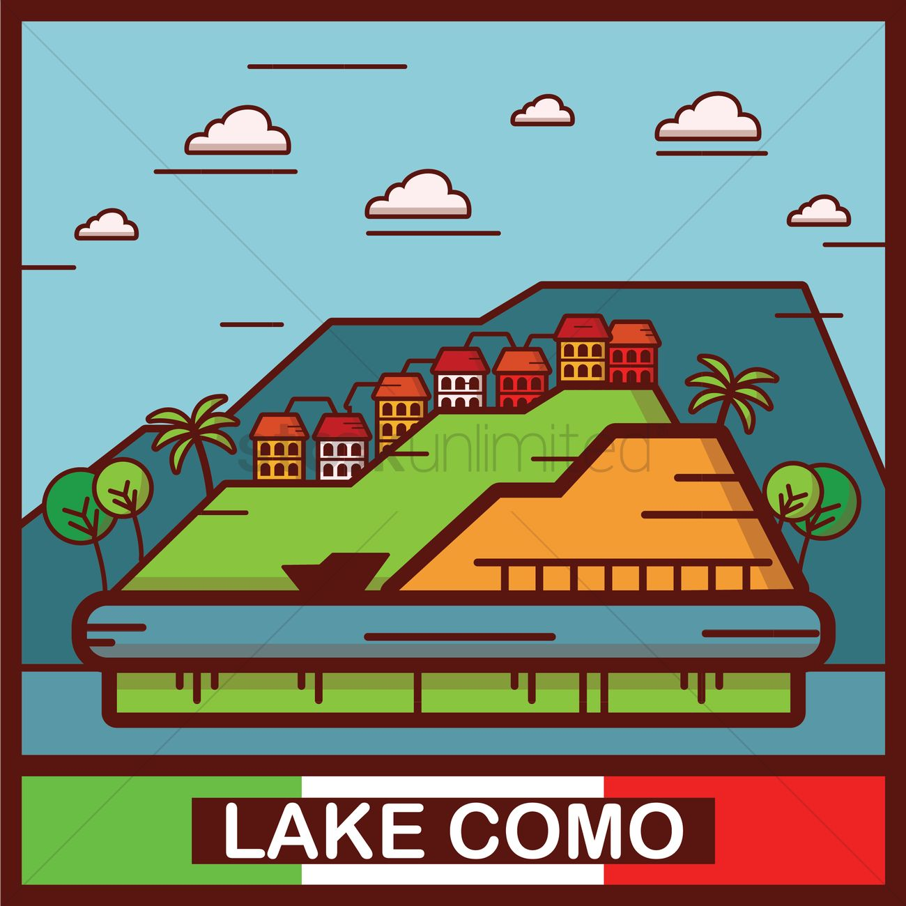 Free Lake Como Stock Vectors.