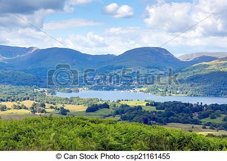 Stock Images of Windermere Lake District National Park England uk.