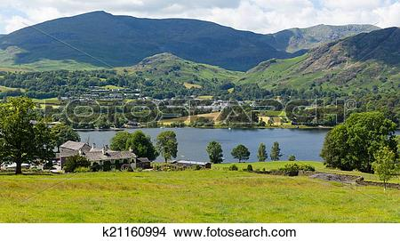 Stock Photo of Coniston Water Lake District uk k21160994.