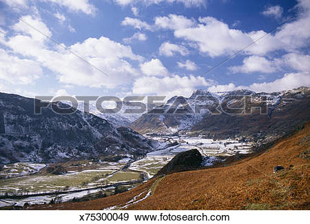 Stock Photograph of England, Cumbria, Lake District, Langdale.