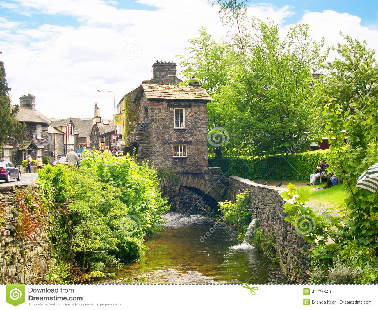 Stone Bridge In The English Lake District Royalty Free Stock.