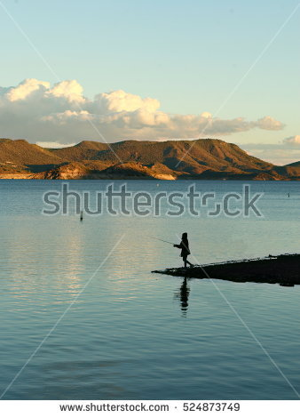Lake Pleasant Stock Images, Royalty.