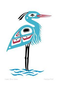 great blue heron tattoo idea.