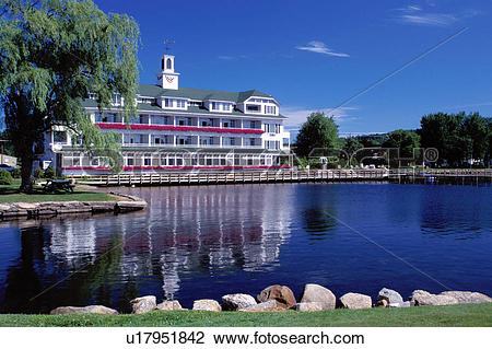 Stock Photo of resort, New Hampshire, inn, lodge, hotel, Meredith.