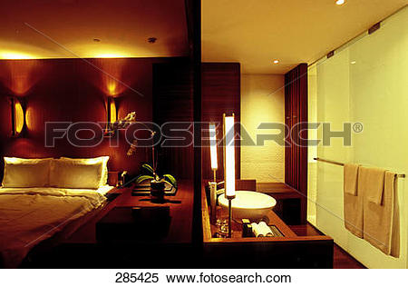 Stock Image of Interiors of hotel room, The Lalu Sun Moon Lake.
