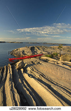 Stock Photo of Snug Harbour, Franklin Island, Parry Sound, Geogian.