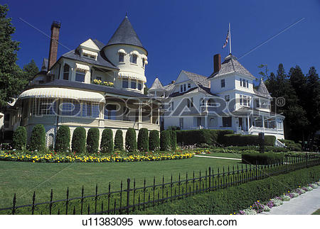 Stock Image of Mackinac Island, MI, Lake Huron, Michigan, Historic.