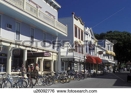 Stock Images of Mackinac Island, MI, Lake Huron, Michigan, The.