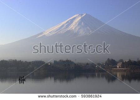 Lake Kawaguchi Stock Photos, Royalty.