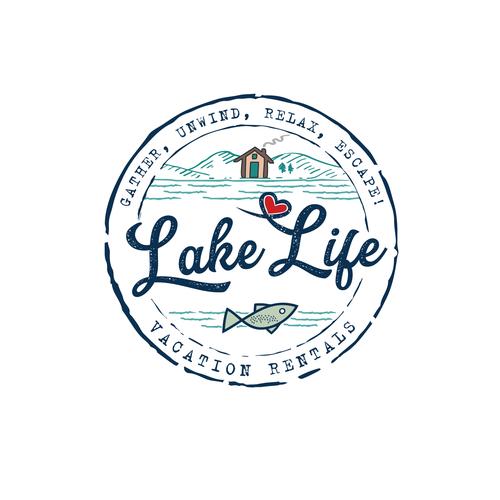 Design a fun, simple lake life logo. A unique design that.