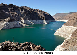 Pictures of Lake Mead and Hoover Dam.