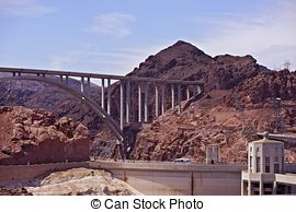 Stock Photographs of Hoover Dam at Lake Mead.