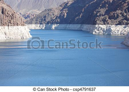 Picture of Lake Mead at Hoover Dam Low Water.
