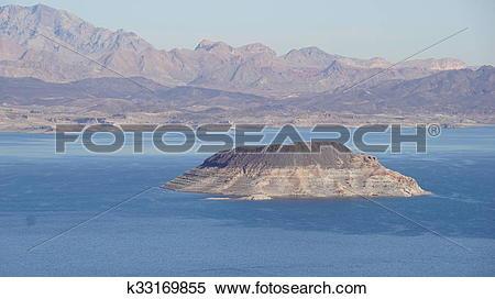 Stock Image of Lake Mead in Nevada k33169855.