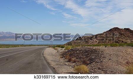 Stock Image of Lake Mead in Nevada k33169715.