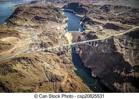 Stock Photos of Hoover Dam & Lake Mead, Las Vegas Nevada.
