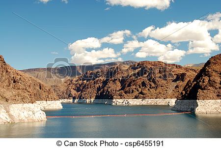 Stock Photography of clouds over Lake Mead Las Vegas.