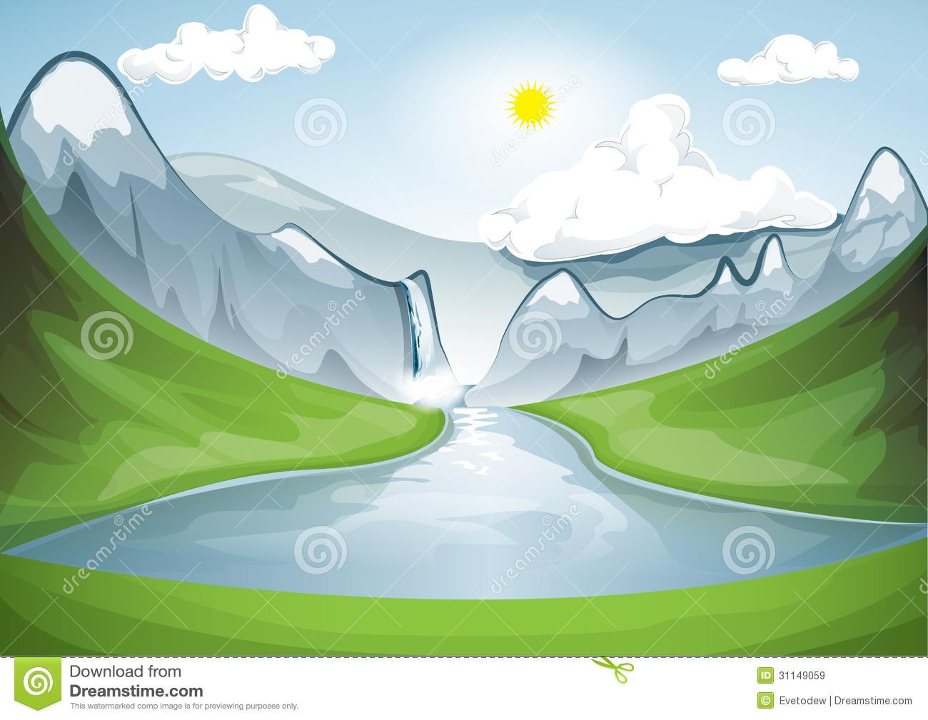Mountain Lake Royalty Free Stock Images.