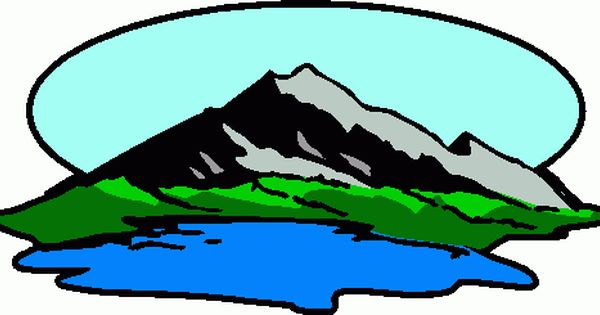 Mountain scenes with lake mountain lake 1 clipart clip art 2.