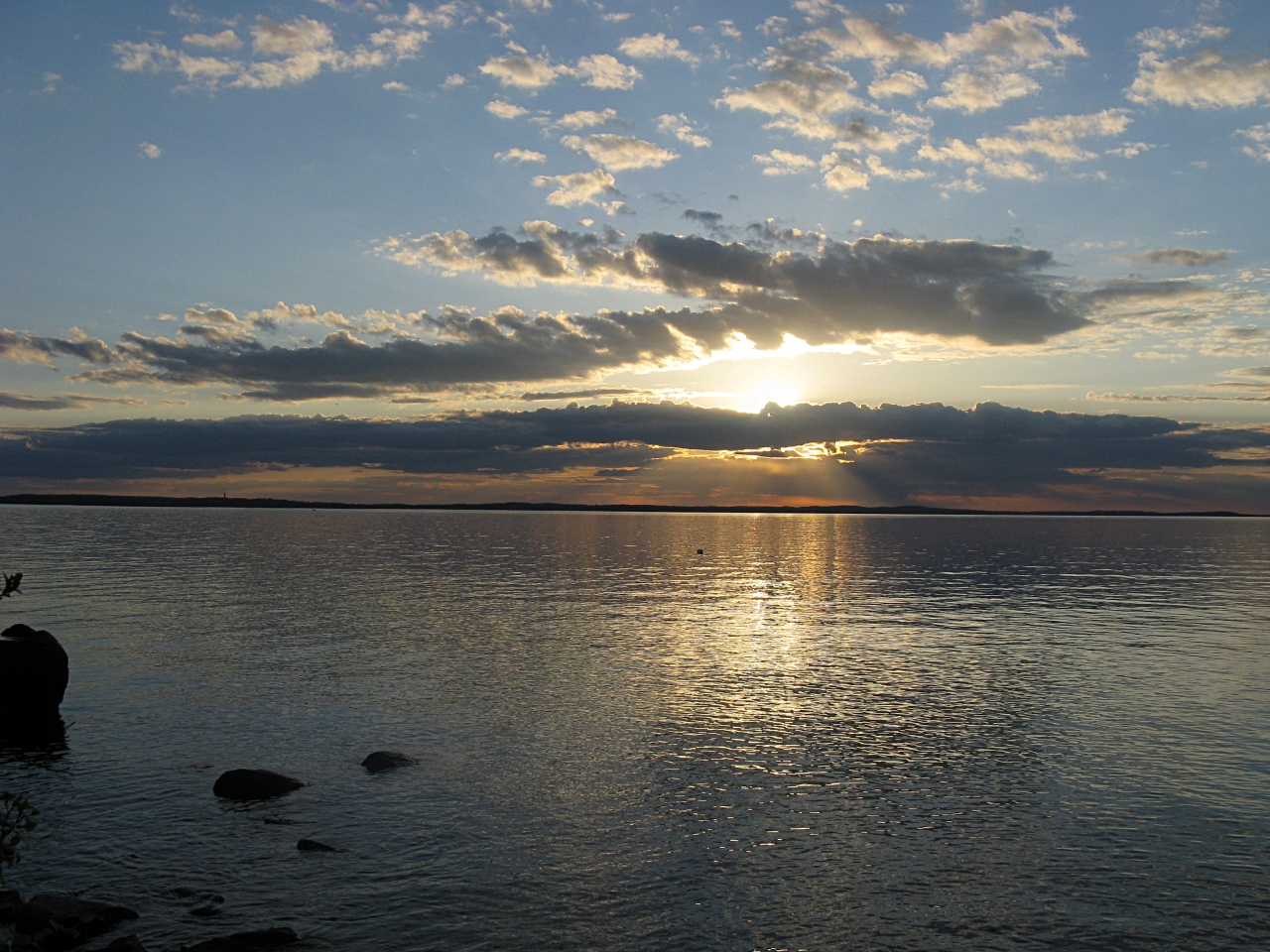Sunset at lake Näsijärvi.