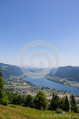 View To Lake Ossiach, Carinthia, Austria Stock Photography.