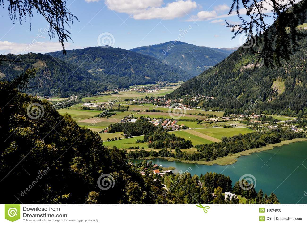 Lake Ossiach,Carinthia Stock Images.