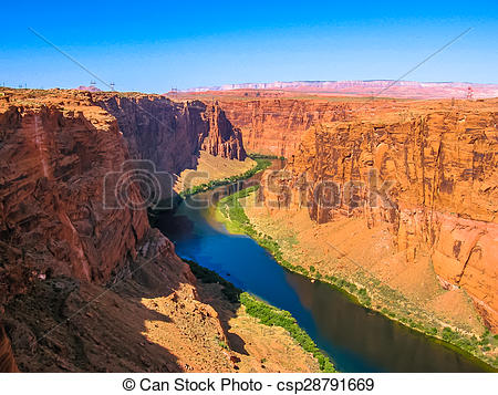 Stock Image of Grand Canyon Lake Powell.