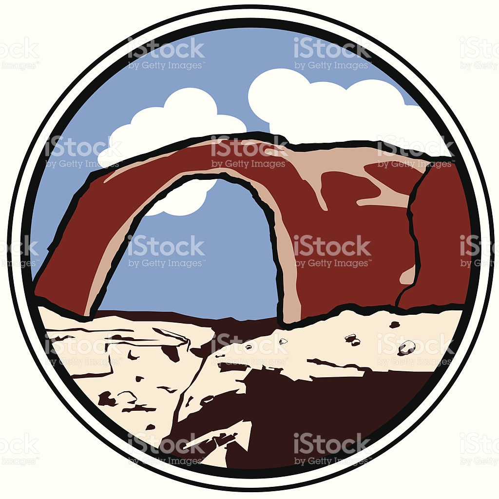 Rainbow Bridge Lake Powell stock vector art 164155277.