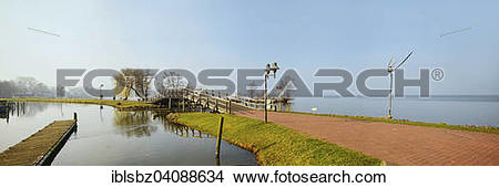 Stock Photo of Panoramic view from the promenade on Steinhuder.