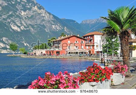 Garda Lake Promenade Stock Photos, Royalty.