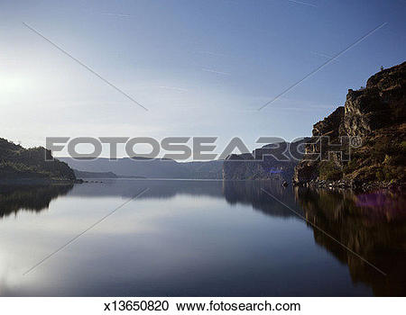 Stock Photography of Lake Roosevelt, Washington, USA, Summer.